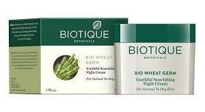 Biotique Wheat Germ Nourishing Youthful Night Cream