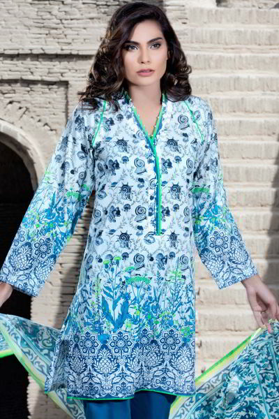 BLUE 3 PC PRINTED LAWN EA-30 A
