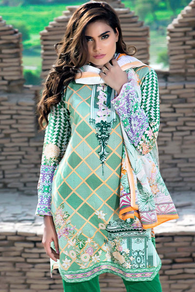 GREEN 3 PC PRINTED LAWN EA-31 B