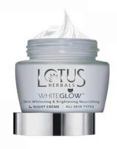 Lotus Herbals White Glow Skin Whitening and Brightening Night Cream
