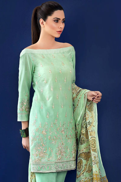 MINT 3 PC SILK CHIFFON EA-10