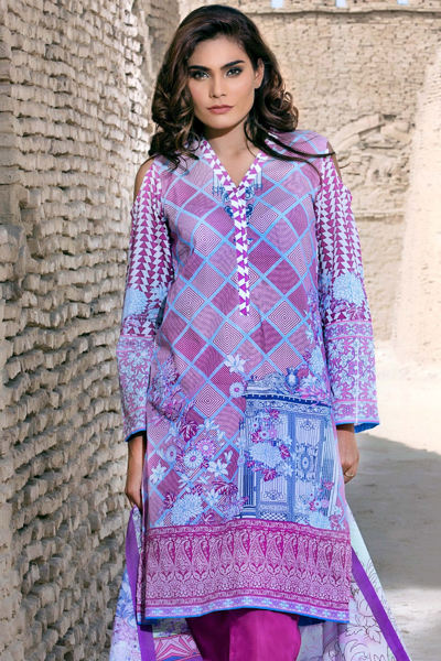 PURPLE 3 PC PRINTED LAWN EA-31 A