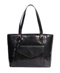 Norah Black A1 Fashion Avenue Italian Leather Handbag