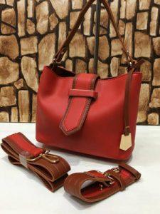 Hadi's Creation Red Leather Handbag