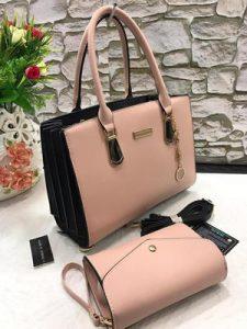 Tea Pink Luxurious Handbag