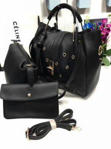 Jet Black A1 Fashion Handbag