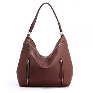 AG00529 Coffee Silk Avenue Handbag