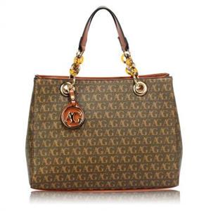 Brown Women's Tote Handbag Silk Avenue Intl
