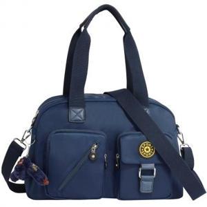 Navy Duffle Handbag