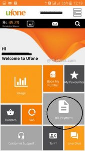 Features in Ufone app