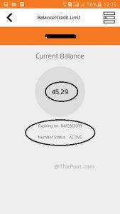 Balance Information