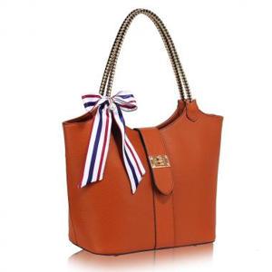 Brown Handbag Silk Avenue