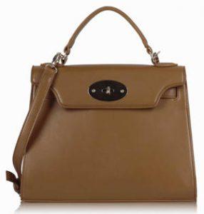 Brown Classic Tote Handbag