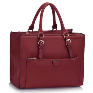 Burgundy Front Pocket Handbag