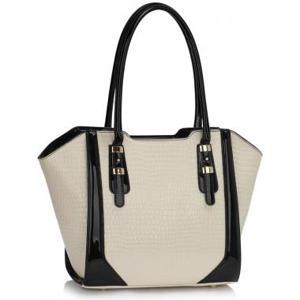 Cream Croc Style Shoulder handbag