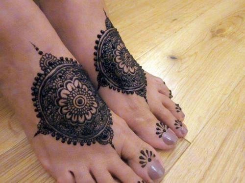 Mehndi Design for Both Feet