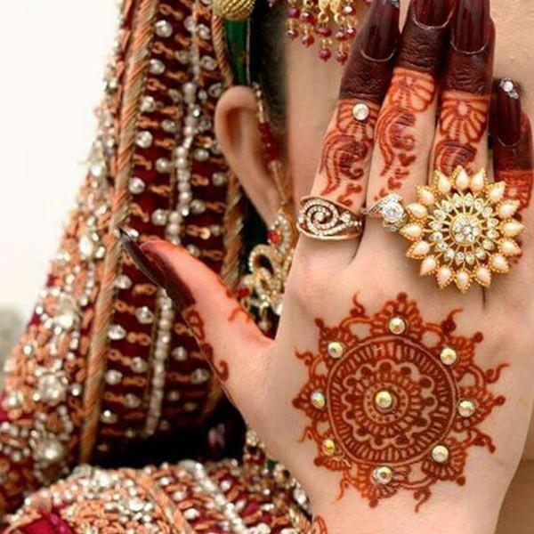 flower mehndi design for bridal