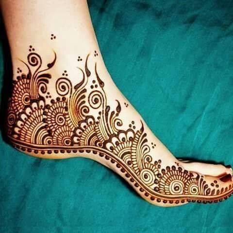 full foot mehndi