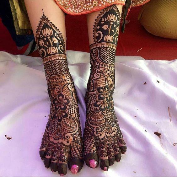 henna design for legs