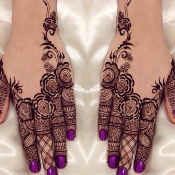 indian henna flower designs