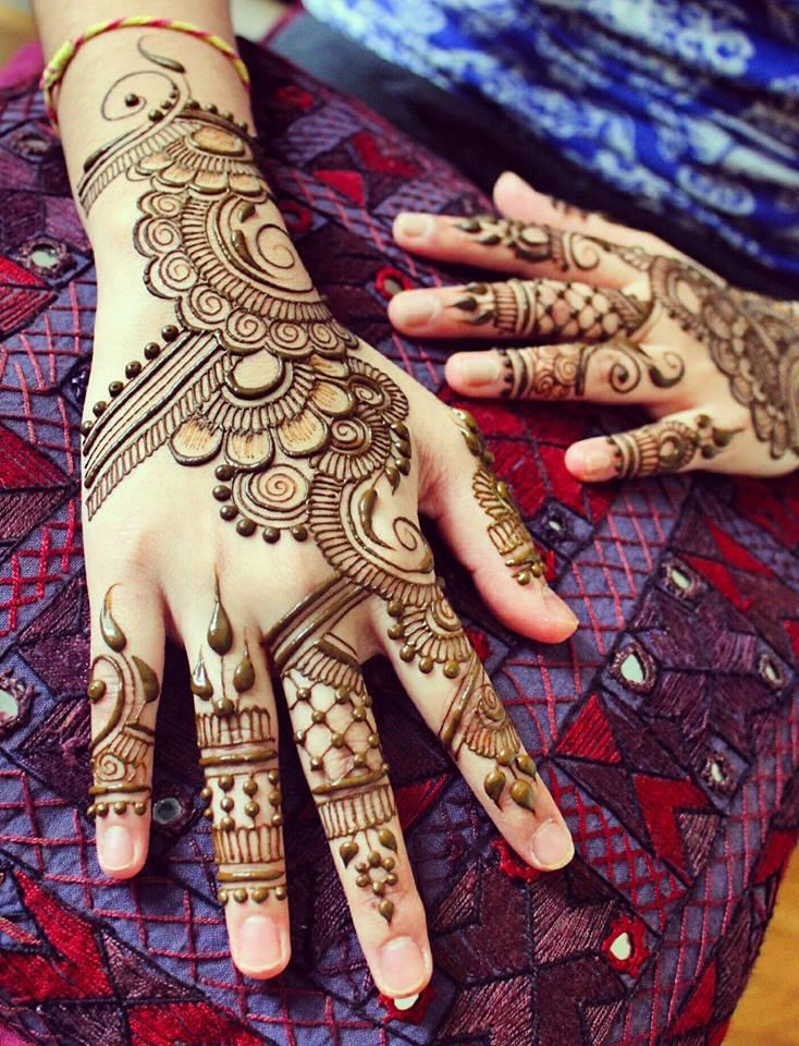 mehndi design simple for eid