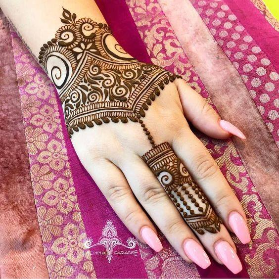 simple mehndi pictures