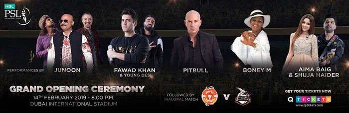 Junoon and Pitbull to perform at PSL 4's opening ceremony