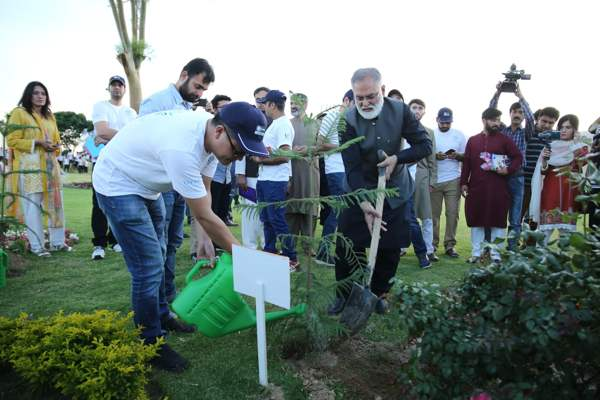 Tree Plantation during Tecno Blue Chalk